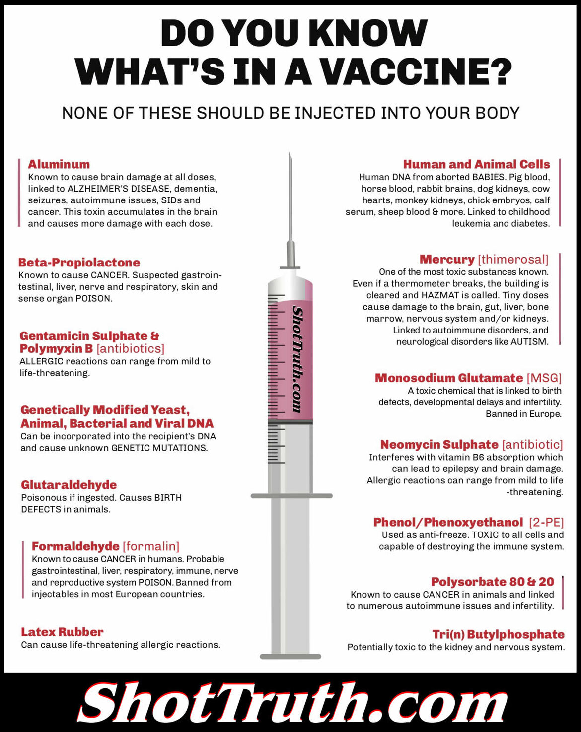 do you know what's in a vaccine?